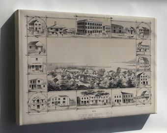 Canvas 16x24; No. 4. View Of Honolulu. From The Catholic Church. (C. 1854) #031215