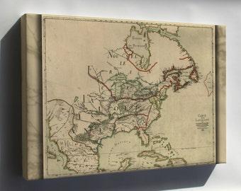 Canvas 16x24; Franquelin'S Map Of Louisiana 1684