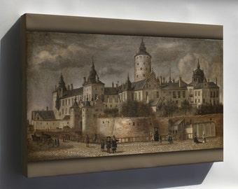 Canvas 16x24; Castle Tre Kronor Stockholm Sweden 1661 By Govert Camphuysen