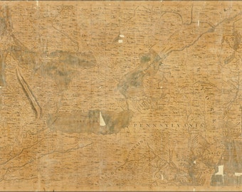 16x24 Poster; Map Michigan Pennsylvania New York 1708 In French