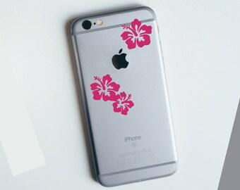 Hibiscus Luau Apple iPhone Decal