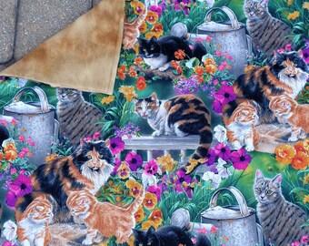 Catnip Mat Cat Blanket Floral Garden Cats Refillable Reversible Machine Wash