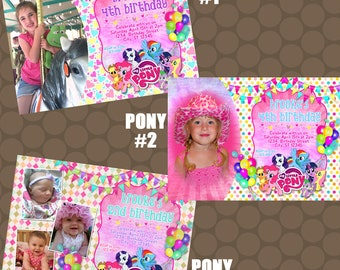 My Little Pony Birthday Party Invitations Printable Uprint Digital Printed Options * 3 Designs * READ DESCRIPTION*