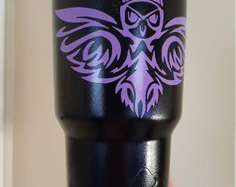 Purple Owl Thermal Coffee Cup