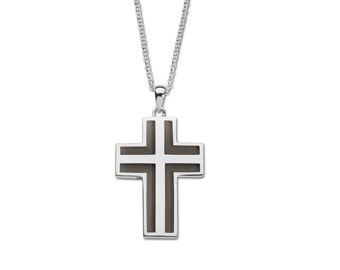 Cross Necklace - GM1055 Sterling Silver Cross Necklace