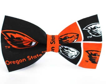 Oregon State Beavers Bow Tie  | College Bow Tie | Sports Bow Tie | College Team | Gift for Him | Kids Bow Tie | Coach Gift | Dog Bow Tie