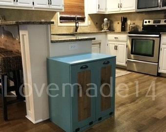 Turquoise Trash Can Etsy