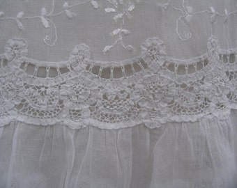 Vintage Childs Dress made in Brussels lace