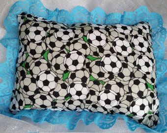 Large Soccer themed doll pillow