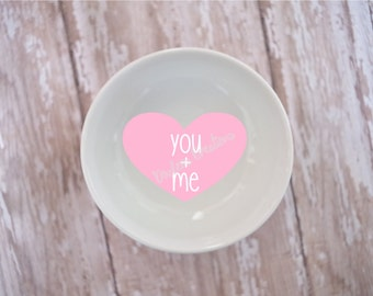 You + Me Conversation Heart Ring Dish