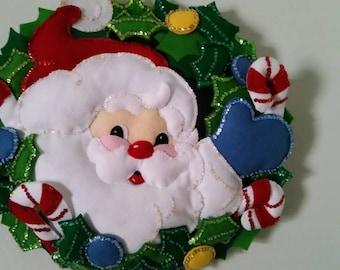 Hand sewn Christmas wall hanging