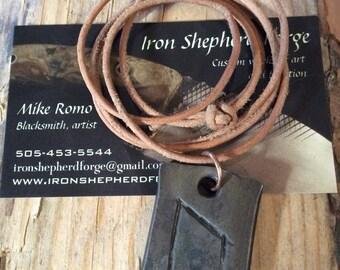 Forged Viking Rune Uruz pendant