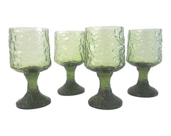 Lenox Impromptu Avocado Green Wine Glasses, S/4