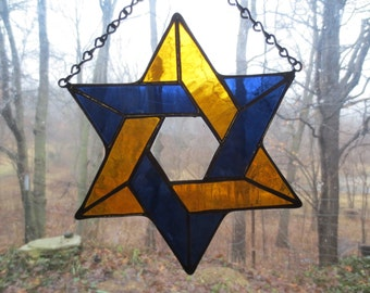 Star of David Stained Glass Suncatcher