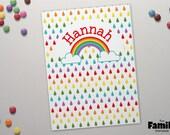 Persönliche Ordner, Rainbow Tasche Ordner, niedliche persönlichem Briefpapier, benutzerdefinierten Ordner Tasche Ordner für Schule, Ordner, TFS/F012
