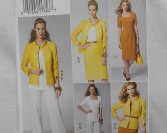 Vogue Wardrobe UNCUT Pattern V8799 Jacket,Top,Pants,Skirt, Top 2012 One UNCUT Pattern Misses Sizes 6-14