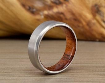 Titanium & Australian Mung Wedding Ring // Mens Wedding Band // Mens Wedding Ring // Women's Ring // Unique Wedding Band