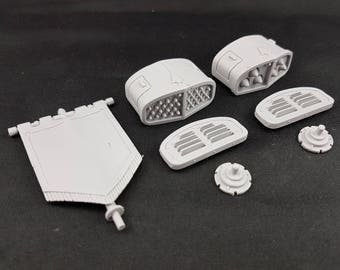 Imperial Mech Canopy Mounts - Missile Pods and Banner Pole