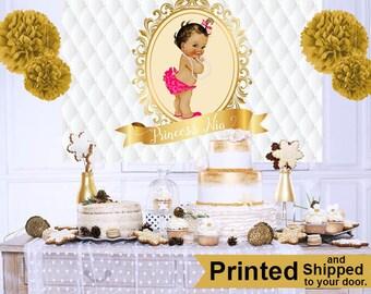 Royal Princess Baby Shower Cake Table Backdrop, Princess Baby Girl Photo  Backdrop Royal Baby