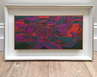 Welsh artist Selwyn Jones (b.1928-1998) abstract oil on board