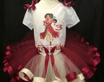 Little girls handmade Princess Elena tutu outfit