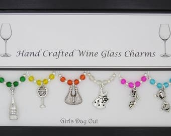 Girls Day Out Set of Wine Glass Charms