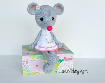 mouse crochet pattern, mouse amigurumi, crochet pattern, mouse pattern