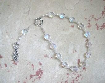 Goddess Prayer Beads with Knotwork Goddess Pendant