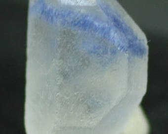 Doubly Terminated Quartz crystal included with rare Dumortierite, Brazil - Mineral Specimen for Sale