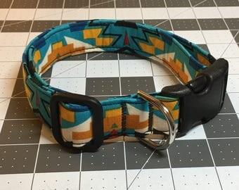 Adjustable Tribal Print Dog Collar