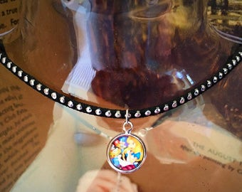 Disney Alice In Wonderland Tea Party Studded Choker Necklace