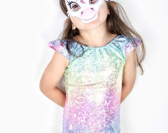 Girls leotard- unicorn leotard- dance outfit- dance leo- baby- toddler- girls- bodysuit- baby girl dancewear -dance costume- unicorn costume