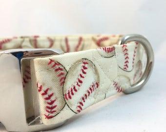 Baseball fan dog Collar/Softball fan dog Collar/Red Dog Collar/sports fan Collar/Dog Collar/Trendy Dog Collar/antique white dog collar