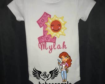 Cute sun onesie or shirt for that special 1 birthday
