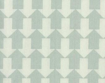 Au Maison oilcloth this way dusty mint arrows coated cotton