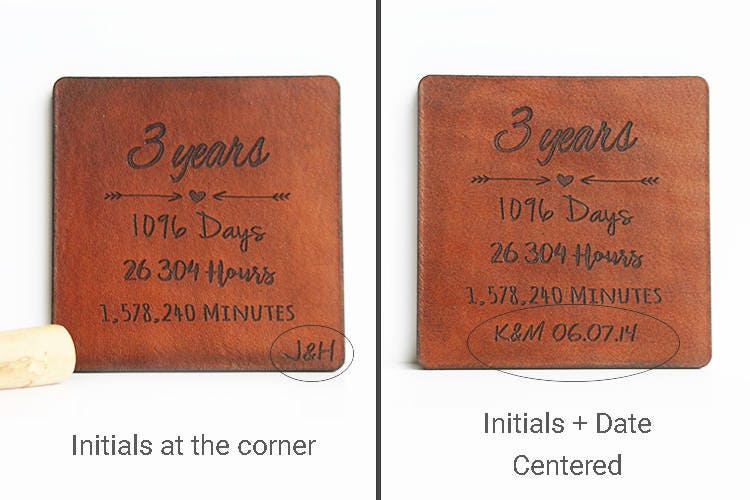 Leather Wedding Anniversary Gifts For Her: 3rd Anniversary Gift Leather 3 Year Anniversary Gift Leather