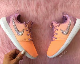 Unicorn Swarovski Nike Roshe Two Shoes Customized With AB Swarovski Crystals