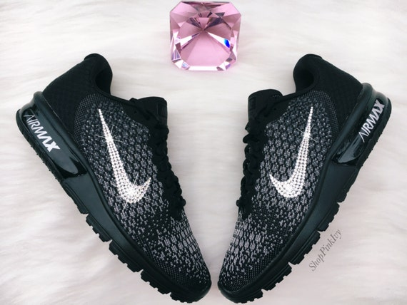 delicate Swarovski Nike Air Max Sequent 2 Running Shoes by ShopPinkIvy 197262713