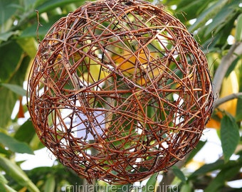 Grapevine Fairy Sphere, 10 inch for Miniature Garden, Fairy Garden