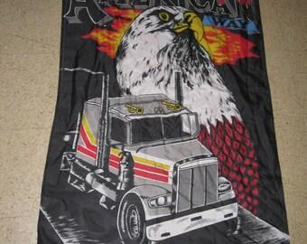 full size TRUCKER HILLBILLY FLAG the american way eagle biker harley davidson