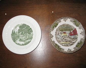 Collection of Vintage China Saucers