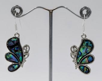 Nacre butterfly earrings, mother pearl earrings, Romantic jewelry, Bohemian earrings, Gifts for her