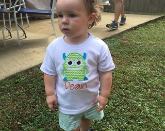 Boys Birthday Shirt, Monster Shirt, Toddler Monster Shirt, Birthday Boy Tshirt, First Birthday Shirt, Personalized Birthday Shirt
