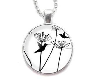 Hummingbirds and Dandelions necklace