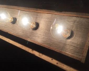 Rustic barn wood Bathroom Vanity Light bar with Indiana