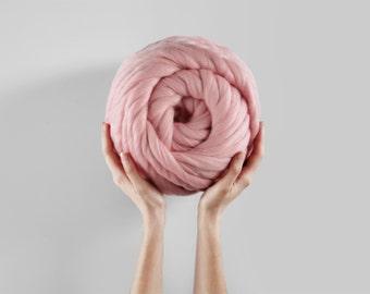 Summer Sale Helix Yarn. Super Thick Handspun Merino Yarn.