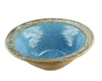 Cereal Bowl turquoise with rustic edge