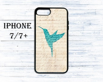 Blue Hummingbird phone cover for iPhone 4/4s, iPhone 5/5s/5c, iPhone 6/6+, iPhone 6s/6s Plus, iPhone 7/7+ phones - gift idea case for iPhone