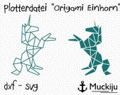 "Plotterdatei ""Origami Einhorn"" commercial Use"