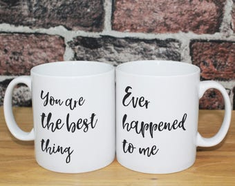 Ray LaMontagne - You Are the Best Thing Song Lyrics personalised print Mug Set | Anniversary wedding engagement proposal gift for couple